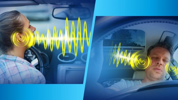 Die 3D-Acoustic-Surround-Technologie von Socionext eignet sich laut Müller nicht nur für Anwendungen im Spielemarkt, für die sie entwickelt wurde, sondern trägt auch für die Sicherheit im Fahrzeug bei. Dabei ist es nicht notwendig, dass ein Fahrzeug mit vielen Lautsprechern für die Erzeugung eines Raumklangs ausgestattet ist. Allein mit den beiden Front-Lautsprechern kann mit der 3D-Surround-Technik das Audiosignal lokal ausgerichtet werden. Der sogenannte »Close-to-Ear Effect« erlaubt es, Alarmtöne unter Verwendung von Software-Algorithmen zu generieren und trotz der unsymmetrischen Anordnung der Front-Lautsprecher dem Fahrer das Gefühl zu vermitteln, diese Töne unmittelbar am Ohr wahrzunehmen. Der Vorteil der Socionext-Technologie besteht darin, dass die Sounddateien in einem Offline-Prozess mit einem 3D-Authering-Tool bearbeitet werden können, ohne die Fahrzeug-Hardware modifizieren zu müssen.