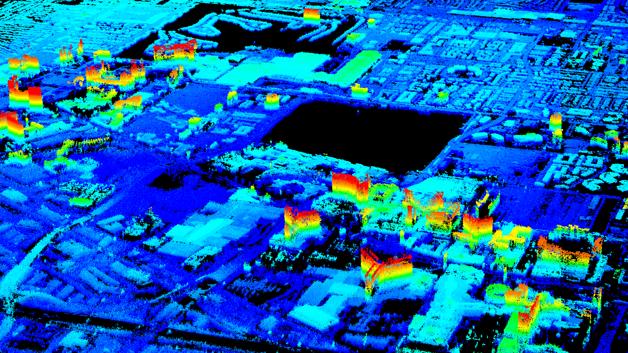 Auch ein 3D-Modell von Las Vegas wurde von der ARbeitsgruppe von Xiaoxiang Zhu, Professorin für Signalverarbeitung in der Erdbeobachtung, bereits errechnet.