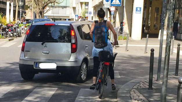 Bild 3. Rechtsabbiegen durch Kraftfahrzeuge ist das häufigste Unfallszenario zwischen Auto- und Radverkehr.