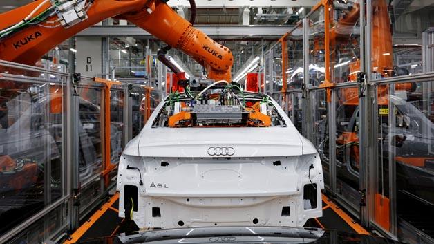 Der A8 wird am Audi-Standort Neckarsulm produziert.