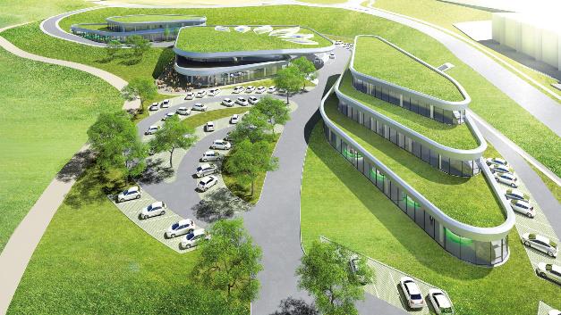 Luftansicht  des  Projekts  Sortimo  Innovationspark