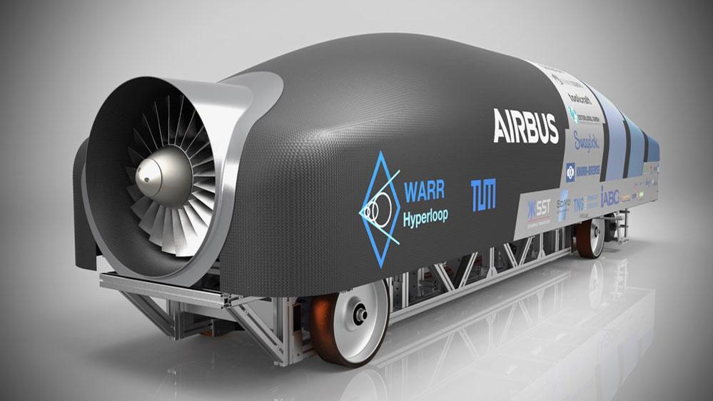 So sieht die Kapsel (oder Pod) der TU München aus, die beim Hyperloop-Wettbewerb in Kalifornien gewann.