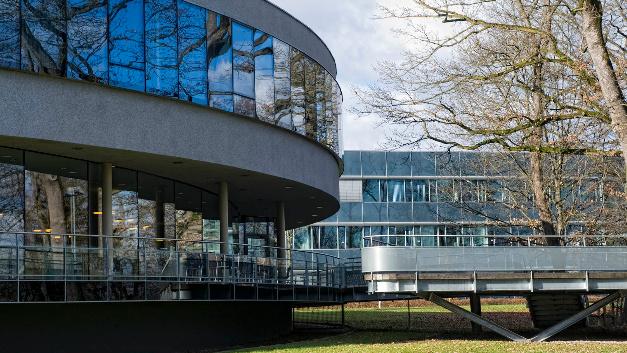 Blick auf die Gebäude am Hauptsitz von ams in Unterpremstätten.