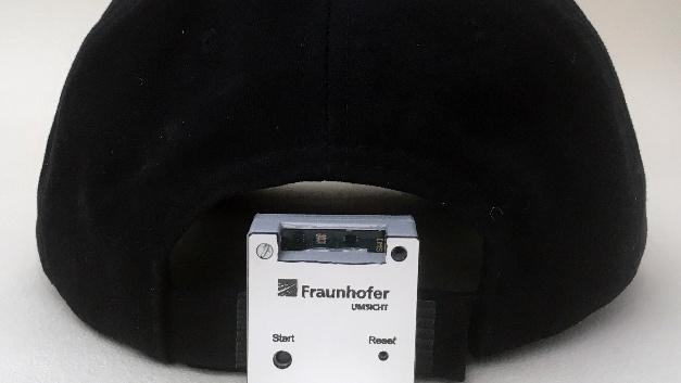 Der Lichteinfall wird in der Studie über ein mobiles Sensormodul gemessen.