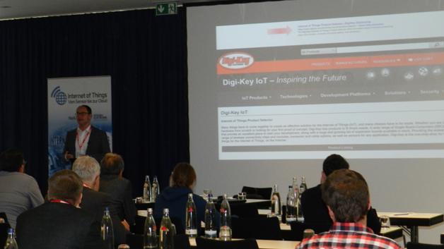 Hermann W. Reiter, Managing Director von Digi-Key (Sponsor unserer Konferenz), nutzte seinen Vortrag, um die enormen Veränderungen im Markt und die damit steigende Komplexität darzulegen und welche Rolle ein Distributor dabei spielen kann.
