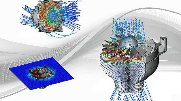 Hauptmerkmale der neuen Flotherm-XT-Simulationssoftware ist die Simulation von rotierenden Teilen in Elektronikgehäusen sowie die Simulation von Wärmebereichen verschiedener Materialien. Rotierende Teile werden mit Hilfe eines gleitenden Netzes modelliert, was das Vernetzen rotierender Bereiche vereinfacht. Darauf aufbauend können Effekte z.B. von  Lüftern und Rotoren simuliert werden. Nicht minder wichtig ist die temperaturabhängige Leistungssimulation: Wenn die Leistung mit einem Objekt oder einer Fläche verknüpft wird, verwendet die Software das durchschnittliche Temperaturziel des Objekts, um die angelegte Leistung einzustellen.