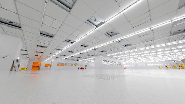 Reinraum im Inneren von Osrams LED-Chipfabrik in Kulim.