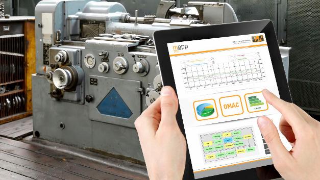Die Orange Box von B&R sammelt Daten von bisher unvernetzten Maschinen und Linien und wertet sie aus. Die Orange Box setzt sich aus einer Steuerung und sogenannten Mapps zusammen. Dabei handelt es sich um vorkonfigurierte Softwarebausteine der Mapp-Technology von B&R. Die Steuerung sammelt Betriebsdaten einer beliebigen Maschine über I/O-Module oder direkt über eine Feldbus-Verbindung. Aus den Daten erzeugen die Mapps Kennzahlen, z.B. die Gesamtanlageneffektivität (OEE), die anschließend angezeigt werden können. Die gewonnenen Daten und Informationen lassen sich mit OPC UA an übergeordnete Systeme übertragen.