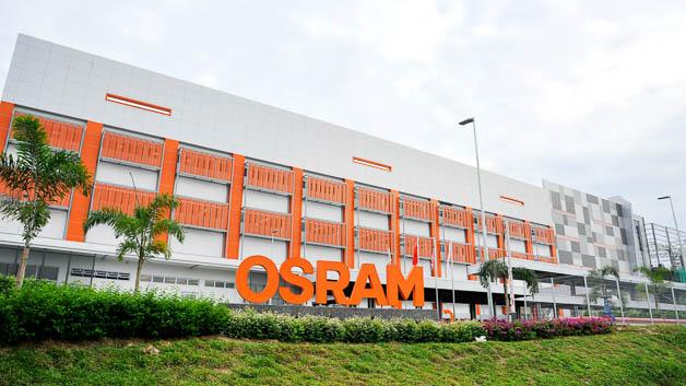 Seitenansicht von Osrams neuer LED-Chipfabrik in Kulim, Malaysia.
