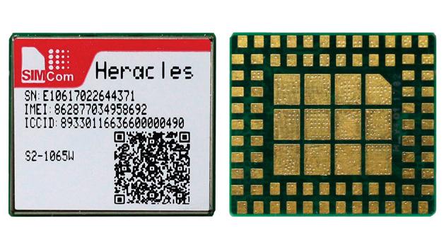 2G-Quad-Band-Funkmodul Heracles mit fest im Modul verlöteter SIM-Karte und Prepaid-Datenvolumen