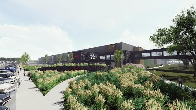 So wird das neue Logistikgebäude von Digi-Key mit 204.000 Quadratmeter Nutzfläche auf mehreren Ebenen in Thief River Falls aussehen.