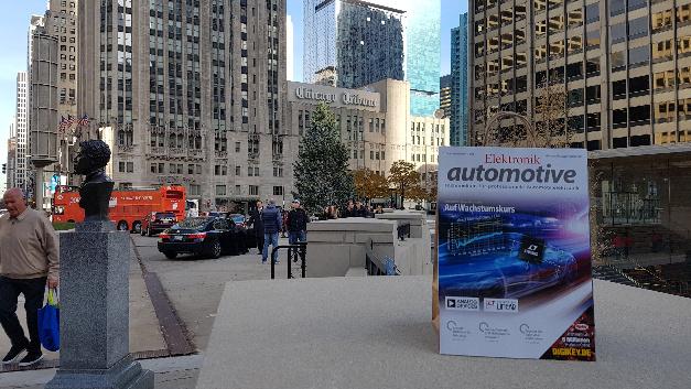 Die »Elektronik automotive« hat es in der Vorweihnachtszeit nach Chicago verschlagen. Ein Glück, dass sie in der »Windy City« nicht davongeweht wurde.