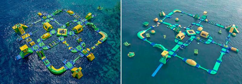Aufblasbarer Wasserpark »Wibit Sports Park XL«