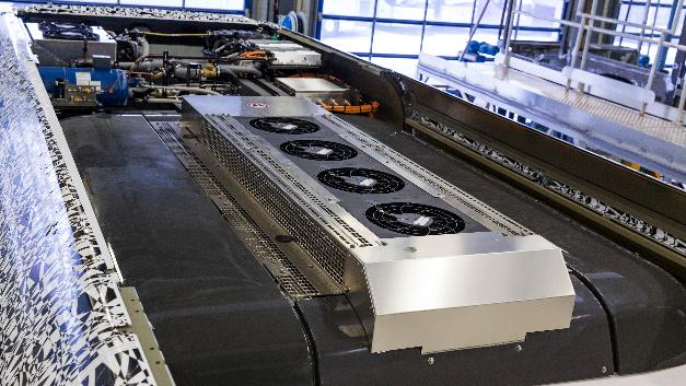 Bei der Dachklimaanlage des elektrischen Citaro wird CO2 als Kältemittel eingesetzt.