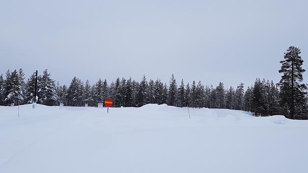 Bei -18°C und ordentlich  Schnee mussten sich Reifen und Systeme beweisen.