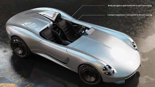 Das Fahrzeug »La Bandita« wurde durch Einsatz von Virtual-Reality entwickelt.