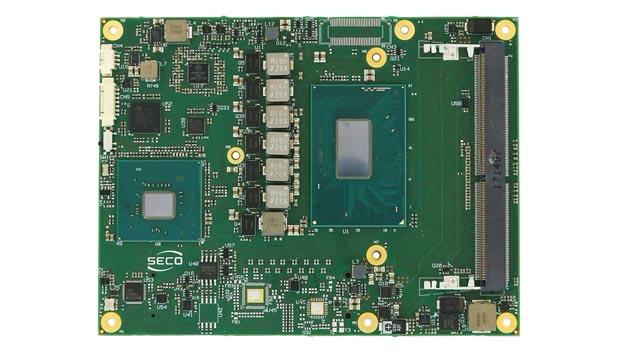 Wie die anderen COM-Express-Module auch, hat das COMe-C08-BT6 die Baugröße »Basic« mit 125 x 95 mm². Der Arbeitsspeicher kann in den zwei Sockeln auf bis zu 32 GB ausgebaut werden.