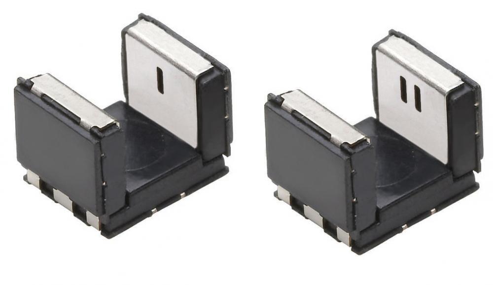 Bild 3: Die Serien TCPT und TCUT1300X01 – Transmissionssensoren mit zwei Phototransistoren