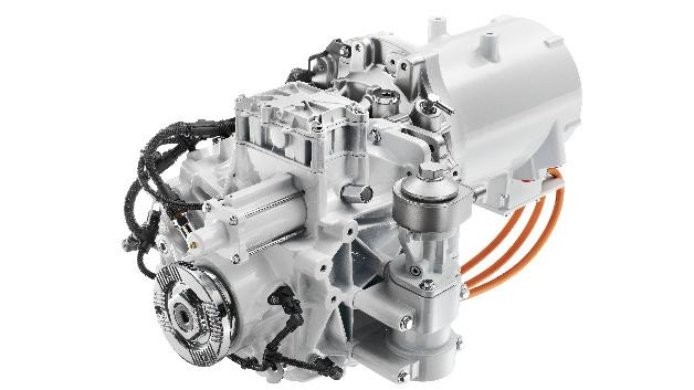 Der FL Electric Antriebsstrang beinhaltet das Volvo 2-Gang-Getriebe und einen Elektromotor mit einer Leistung von 185 kW.