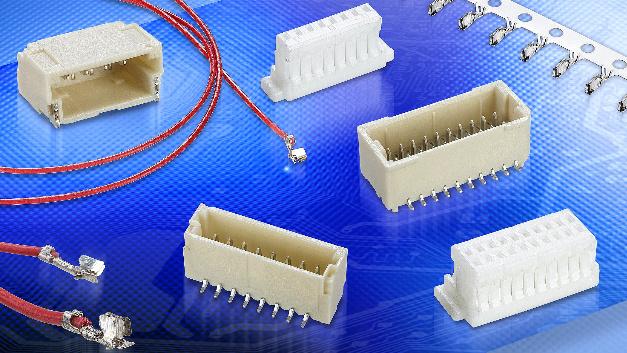 Die M40-Produktfamilie von Harwin enthält flache Steckmodule im 1-mm-Raster, die mit ihren – bis 1 A ausgelegten – Phosphorbronze-Kontakten die kleinsten Ausführungen im Portfolio der Kabel-zu-Leiterplatte-Steckverbinder des Unternehmens darstellen. Sie wurden für Applikationen entwickelt, bei denen dicht bestückte Leiterplatten eng aufeinandergestapelt sind.  Die M40-Steckverbinder sind sowohl in einreihiger als auch in zweireihiger Ausführung erhältlich, wobei Konfigurationen der ummantelten Stiftleisten sowohl für vertikale als auch für horizontale Oberflächenmontage zur Verfügung stehen. Vorverkabelte Buchsenkontakte sind jeweils ab Lager lieferbar, auf Wunsch sogar mit kompletter Kabelkonfektionierung.  Ausgelegt für 50 Steck-/Zieh-Zyklen, weisen diese Bauelemente einen Isolationswiderstand von 100 MΩ auf und decken einen Betriebstemperaturbereich von –25 bis +85°C ab. Geeignet sind sie für industrielle Steuerungen/Überwachungen, die Kommunikations-Infrastruktur, industrielle Antriebe sowie für die Unterhaltungselektronik.