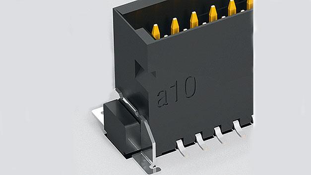 Bild 2. Der Boardlock wird zusätzlich auf der Leiterplatte verlötet.