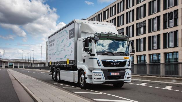 Der vollelektrische Verteiler-Lkw eTGM verfügt über eine Leistung von 264 kW und ein Drehmoment von 3.100 Nm.