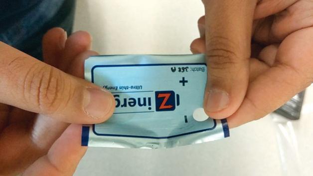 Bild 1. Das Unternehmen Zinergy aus Cambridge fokussiert sich auf hochflexible gedruckte Batterien.
