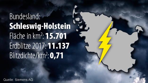 Platz 14: Schleswig-Holstein (Blitzdichte: 0,71)