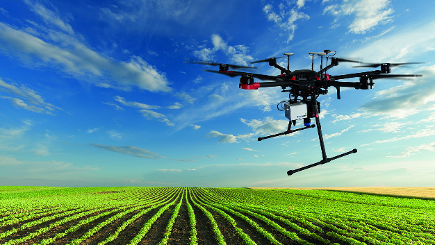 agriculture and environmental protection  drone with hyperspectral imaging