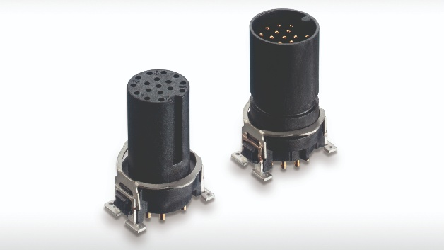 Erni Electronics erweitert sein Portfolio an M12-Steckverbindern um Versionen mit 12 und 17 Polen. Die Steckverbinder sind als SMT-Ausführung und als geschirmte Versionen verfügbar. Mit den M12-Varianten lässt sich die Anzahl der erforderlichen Geräte-Schnittstellen reduzieren, wenn Bus-, I/O-, Steuer-, Service- und Safety-Signale in einem Stecker oder Kabel zusammengefasst werden. Bei passiven I/O-Boxen sind mit den neuen M12-Steckverbindern mehr Ports pro Box möglich, während bei Multipol-Anschlüssen von Ventilinseln nun M12- statt M23-Steckverbinder eingesetzt werden können. Die Steckverbinder eignen sich zum Beispiel für komplexe Sensoren, Kameras, Scanner, Drehgeber, I/O-Boxen und Sensor/Aktor-Multipolanschlüsse.