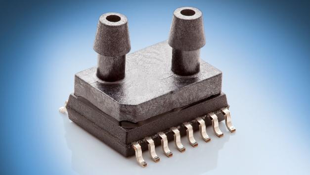 Amsys präsentiert neue SOIC-Drucksensoren für den Niedrigstdruckbereich von ±1,25 und ±2,5 mbar. Die OEM-Sensoren werden während der Herstellung individuell linearisiert, kalibriert und temperaturkompensiert. Dadurch ist keine zusätzliche Schaltung wie z.B. ein Kompensationsnetzwerk mit Korrekturalgorithmus mehr nötig. Als Ausgangssignal stehen zwei digitale Signale im I²C-Format zur Verfügung, die proportional zum differentiellen Druck und zur Umgebungstemperatur sind. Mit einer ADC-Auflösung von 16 bit und einer Genauigkeit von typ. ±0,5 %FS im gesamten Kalibrationstemperaturbereich (-25 bis +85 °C) eignet sich der Sensor vor allem für Industrieanwendungen. Die Bauform der Niederdrucksensoren basiert auf dem Standard-SOIC16(w)-Gehäuse. Zusätzlich zum IC ist auch die Siliziummesszelle im Gehäuse eingebaut. Die OEM-Sensoren sind für die automatische SMD-Montage ausgelegt, sie können wie ein IC im Leiterplattenentwurf platziert und per Reflow-Verfahren auf Standard-PCB montiert werden.  Amsys, Halle B3, Stand 317