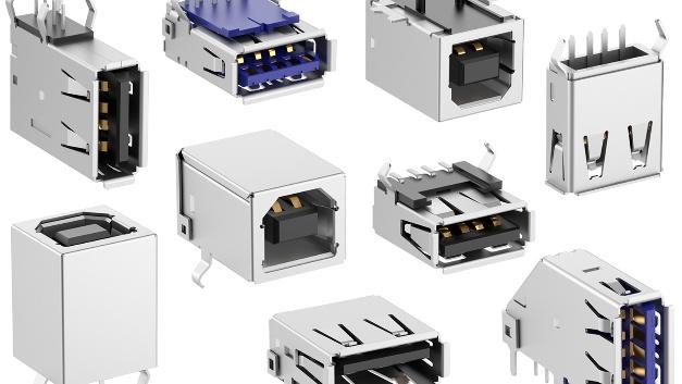 """Erweitertes USB-Portfolio Fischer Elektronik hat die genormten USB-2.0-Buchsen TypA in vier Varianten, Typ B in drei Varianten und die USB-3.0-Typ A in zwei Varianten in das Lieferprogramm aufgenommen.  Die USB-2.0-Buchsen vom TypA mit der Artikelbezeichnung """"USB 2 A"""" sind in liegender, vertikaler und stehender Einlöttechnik sowie in liegender SMD-Löttechnik ab sofort lieferbar.  Die mit der Artikelbezeichung """"USB 2 B"""" bezeichneten USB-2.0-Buchsen vom TypB, die häufig als Schnittstelle zwischen Druckern und Computern genutzt werden, bietet Fischer Elektronik in liegender und in stehender Einlöttechnik sowie in liegender SMD-Löttechnik an. USB-3.0-Buchsen vom Typ A mit sechs statt zwei Datenleitungen im Vergleich zum USB 2 A haben die Artikelbezeichnung USB 3 A und sind in liegender und vertikaler Einlöttechnik ebenfalls ab sofort lieferbar.  Für die automatengerechte Zuführung sind Verpackungsausführungen in Form von Trays und Tape and Reel, je nach Anfragemenge, verfügbar. Fischer Elektronik, Halle A2, Stand 410"""