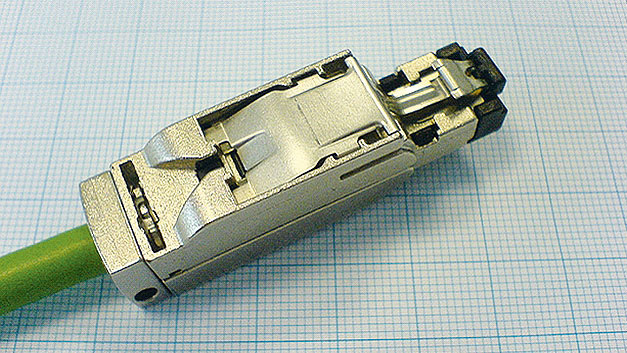 Fig. 1. RJ45 connector versions specially fitted with an armored case guard against damage.