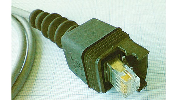 Fig. 3. For many an application RJ45 connector elements feature a rubber cap and sealing lips to reach IP55 ingress protection.