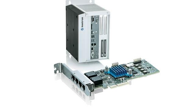 Kontron bietet zwei TSN-Netzwerkkarten an. Sie umfassen einen integrierten Switch für redundante Netzwerke mit zwei (PCIE-0200-TSN) oder vier Gigabit-Ethernet-Ports (PCIE-0400-TSN). Sie erfüllt alle Spezifikationen gemäß IEEE 802.1 wie Timing und Synchronisation, Traffic Scheduling, Frame Preemption, Stream Reserveration Protocol und weitere. Da die Karten mit einem FPGA ausgestattet sind, können sie an mögliche Änderungen und Erweiterungen der TSN-Spezifikation angepasst werden. Sie lassen sich im industriellen Temperaturbereich von –40 bis +85°C betreiben. Zusammen mit dem Industriecomputer KBox C-102-2 bietet Kontron die TSN-Karten als TSN-Starterkit mit allen zugehörigen Netzwerk- und Switch-Treiber für Linux an.