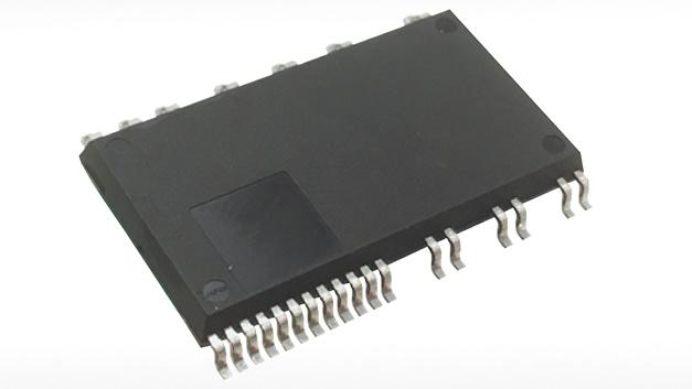 Kennziffer xxx: Leistungsmodule SP1SK und SP3SK von Mitsubishi Electric.  Mitsubishi hat ein MISOP-IPM (Mitsubishi Electric Intelligent Small Outline Power Module) auf den Markt gebracht, das die Implementierung kompakter Umrichter im unteren Leistungsbereich erlaubt. Es ist in zwei Varianten verfügbar: Das SP1SK ist für 600 V und 1 A ausgelegt und das SP3SK für 600 V und 3 A. Die verbauten RC-IGBTs basieren auf der siebten IGBT-Generation von Mitsubishi. Dank der integrierten Gate-Treiber-ICs und der Bootstrap-Diode mit Strombegrenzung verringert sich die benötigte Anzahl an externen Komponenten. Zusätzlich zum Übertemperaturschutz ist ein separates Analogsignal zur Überwachung der Modultemperatur vorhanden.