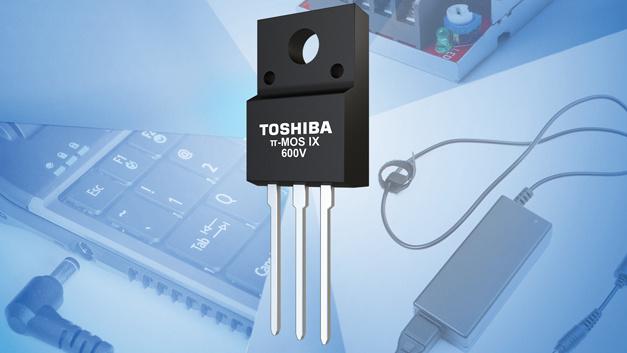 Kennziffer xxx: MOSFETs π-MOS IX von Toshiba.  Die 600-V-Planar-MOSFETs mit der Bezeichnung π-MOS IX von Toshiba sind für kleine und mittlere Schaltnetzteile ausgelegt. Hinsichtlich des Chip-Designs wurden sie so optimiert, dass die elektromagnetische Abstrahlung bis zu 5 dB weniger beträgt als bei der bisherigen Generation der π-MOS-VII-Serie – und das beim selben Wirkungsgrad. Zur Serie zählen Planar-MOSFETs mit On-Widerstandswerten zwischen 0,65 Ω und 1,9 Ω. Alle vier MOSFETs weisen dieselben Werte für Avalanche-Strom und Durchlass-Strom auf. Dadurch ist ein einfacherer Austausch der Halbleiterbausteine möglich.
