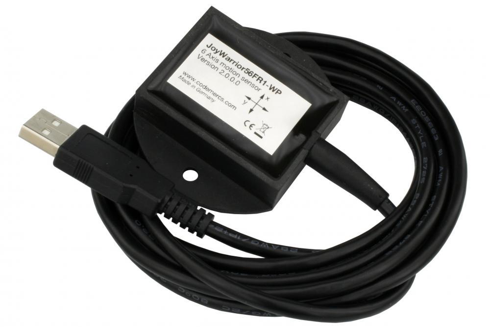094: Mit dem JoyWarrior56FR1–WP liefert Code Mercenaries einen neuen Bewegungssensor mit USB-Schnittstelle in wasserdichter Ausführung. Mit drei Achsen Beschleunigung und drei Achsen Drehrate bei jeweils 16Bit Auflösung und mehreren Messbereichen von ±2g bis ±16g und 125 das bis 2.000 das erlaubt der JoyWarrior56FR1 eine detaillierte Messung der Bewegung und Orientierung. Die Standarddatenrate beträgt 833 Messwerte pro Sekunde, ein high-speed-Modus liefert 6.664 Messwerte pro Sekunde. Der Betriebstemperaturbereich geht von -10°C bis 85°C. Das Gehäuse verfügt über Schraublöcher zur Befestigung und einen starken internen Magneten zur Befestigung auf ferromagnetischen Oberflächen.