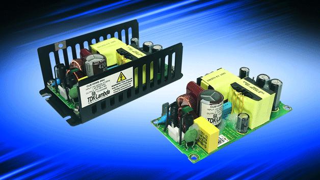 102: Die 100-W-Netzteile der Baureihe CUS100ME von TDK-Lambda liefern bei 85 °C und einem Luftstrom von 1 m/s noch 75 W Ausgangsleistung. Bei Kontaktkühlung steht noch bei 70 °C die volle Ausgangsleistung zur Verfügung. Eingesetzt werden können die Stromversorgungen mit einem Wirkungsgrad von bis zu 94 % bis zu einer Höhe von 5000 m. Die Isolationsspannung beträgt 4000 V AC (2xMoPP) zwischen Ein- und Ausgang sowie jeweils 1500 V AC (1xMoPP) zwischen Eingang und Masse bzw. Ausgang und Masse, sodass die Einbaunetzteile auch für Anwendungen mit Patientenkontakt zugelassen sind.