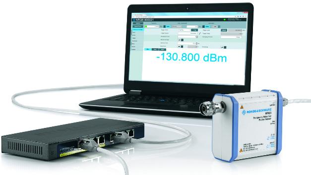 077: Mit dem HF-Leistungsmessgerät R&SNRQ6 von Rohde & Schwarz lassen sich HF-Leistungen bis  6 GHz schnell und genau messen. Es arbeitet mit hoher Linearität und kann für verschiedene Aufgabenbereiche (auch frequenzselektive Messungen) konfiguriert werden. Einstellungsabhängig bietet das R&SNRQ6 einen sehr großen Dynamikbereich von –130 dBm bis +20 dBm, was die Daten bisheriger HF-Leistungsmessgeräte deutlich übertrifft. Zudem hat es eine kurze Eigenanstiegszeit und eine hohe Bandbreite, wie sie bislang nur von Spektrumanalysatoren erzielt wurde.