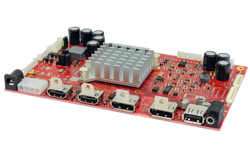 eMotion-LCD-Controller UHD II gibt V-By-One und eDP-Signale aus zur Ansteuerung von Displays mit 3840 x 2160 Pixeln Auflösung bei maximal 60 Hz.