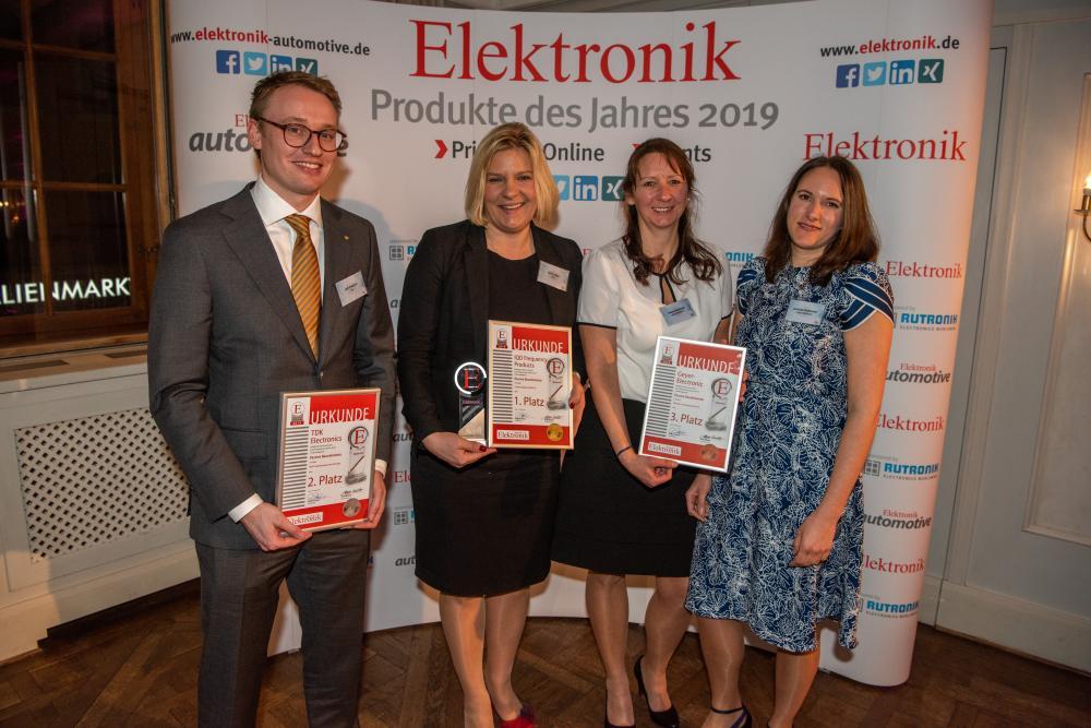 v.l.n.r: Friedrich Leif, TDK; Anke Allen, IDQ; Petra Dudzinski und Corinna Damerow, Geyer Electronic