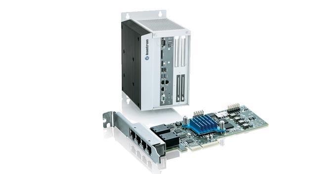 Das TSN-Starterkit von Kontron besteht aus einem Industrie-PC und einer TSN-Netzwerkkarte. Damit können Entwickler das echtzeitfähige Ethernet evaluieren. Da die TSN-Spezifikation zum Zeitpunkt der Markteinführung noch weiterentwickelt wurde, hat Kontron die Netzwerkkarten so konzipiert, dass sie sich per Firmware-Update um die neuesten TSN-Funktionen aktualisieren lassen.