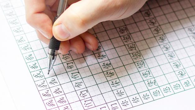 Für das Schreiben chinesischer Schriftzeichen wird nicht nur das Zeichen an sich definiert, sondern auch die Reihenfolge der einzelnen Elemente eines Zeichens und die Richtung in der sie zu Papier gebracht werden wird in den Schulen gelehrt.