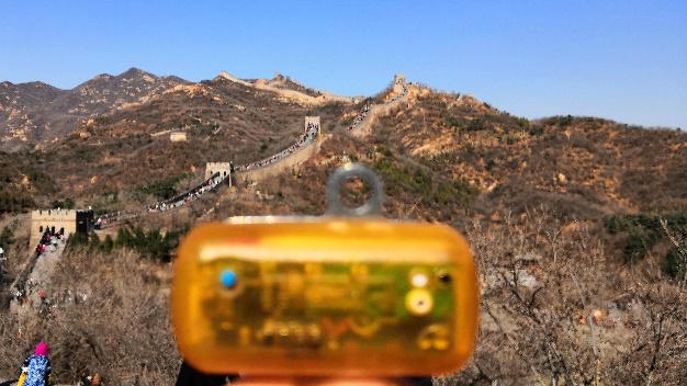 China: Diesmal mit Blick auf die Chinesische Mauer.