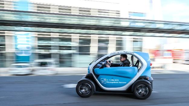 Das Elektro-Kleinstfahrzeug Renault Twizy wird ebenfalls auf der Messe zu sehen sein.