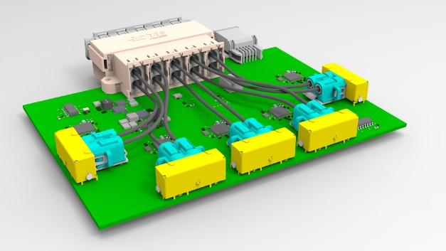 Hochintegrierter Aufbau eines optischen Gigabit-Switch mit integrierten FOTs