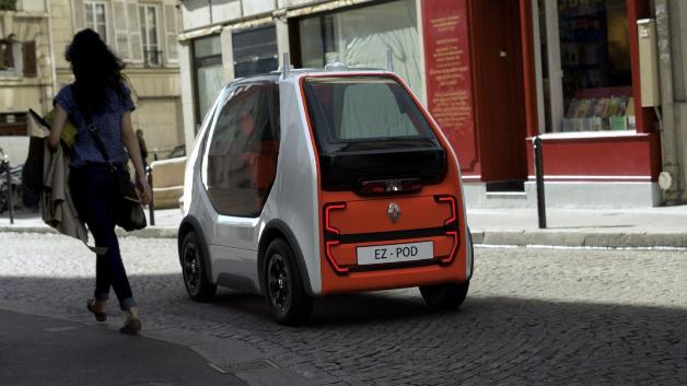 Das Mikromobil EZ-POD von hinten.