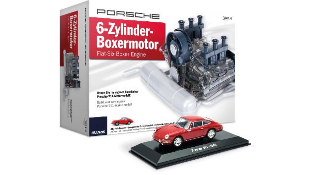 2.Preis Porsche 6-Zylinder-Boxermotor mit Original Porsche 911 Modell  Der Porsche-Boxermotor ist einzigartig und die Fahrzeuge, die er antreibt, sind legendär. Mit diesem Paket bauen Sie in rund drei Stunden ein transparentes Funktionsmodell des 2-Liter-6-Zylinder-Boxermotors aus dem Jahr 1966. In limitierter Auflage erhalten Sie zusätzlich ein Porsche-911-Modellauto im Maßstab 1:43 im exklusiven Farbton Signalrot. Erleben Sie den Boxermotor mit allen Sinnen! Sehen Sie die Ventile öffnen und schließen, sehen Sie die Kurbelwelle präszise rotieren, machen Sie die Augen zu und hören den Original-Motor-Sound, spüren Sie die Vibrationen die sie vom Popometer kennen! •Soundmodul mit Original-Boxer-Sound •Transparentes Gehäuse für einen faszinierenden Blick ins Innere •Limitiertes Modellauto im Maßstab 1:43 •Nockenwelle über Zahnriemen angesteuert •Simulierter Zündfunken •Funktionierender Zündverteiler •Angetriebenes Lüfterrad •Podest zum Aufstellen  Powered by FRANZIS