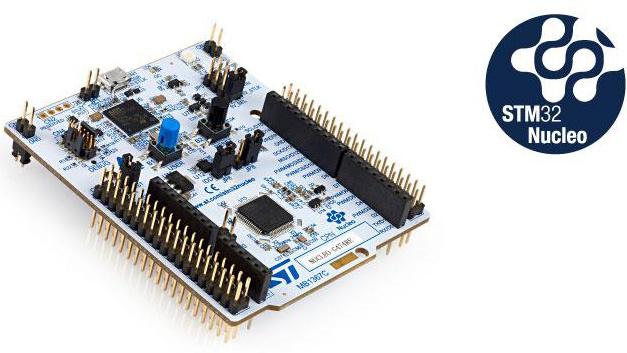 Die STM32-Nucleo-64-Boards bieten eine kostengünstige und flexible Möglichkeit, neue Konzepte auszuprobieren und Prototypen zu bauen. Das mit dem Mikrocontroller STM32G474RE bestückte Modul bietet Arduino- und ST-morpho-kompatible Anschlüsse.